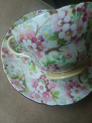 Shelley China Cup Saucer.  Maytime Chintz