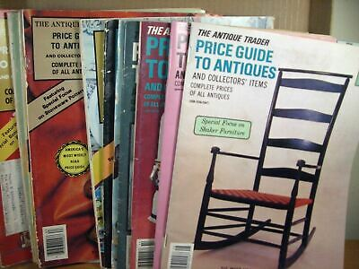 The Antique Trader Price Guide to Antiques Lot of 12 issues 1973-1984