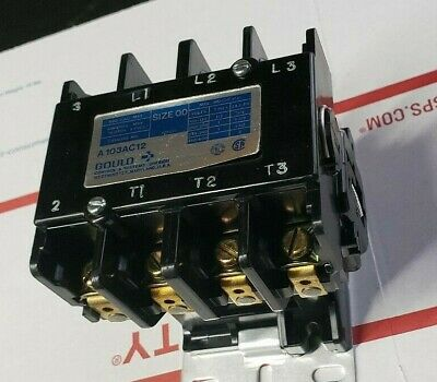 Gould  - A103Ac12 Motor Control Magnetic A.c. Contactor - Size 00