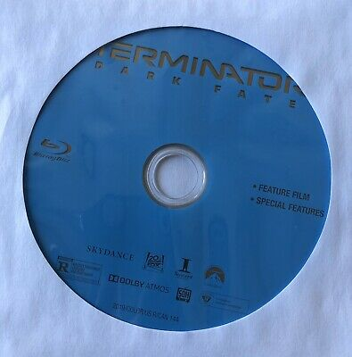 Terminator: Dark Fate (2019) Blu-Ray Disc Only W/Dvd Sleeve - New, Never Used