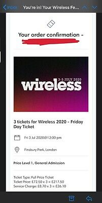 Wireless Festival 2020 Friday 3rd July Ticket
