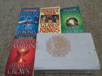 5 books George R R Martin Game of Thrones complete Dance with Dragons mixed lot