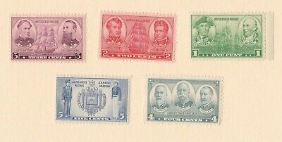 Sc #790 - 794 Navy Issue of 1936/37 Mint NH Complete Set  - 5 Stamps