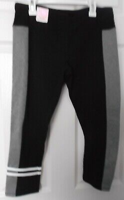 Girls' So Black & Gray Yoga Crop Legging - Size Medium - New With Tags