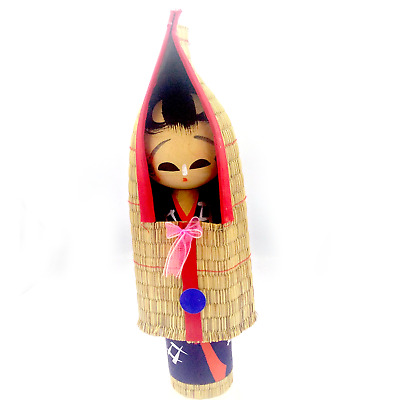 "Big Size 12"" Kokeshi  Japanese wooden wood mat antique statues doll vintage Toy"