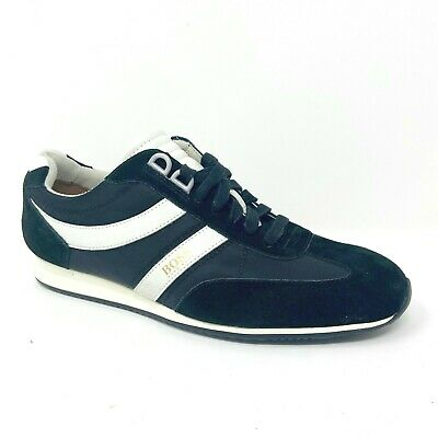 Retail Price $189.95 Hugo Boss Shoes Suede Mens Athletic Casual Sneakers Orland/_Lowp/_MX Black//Blue