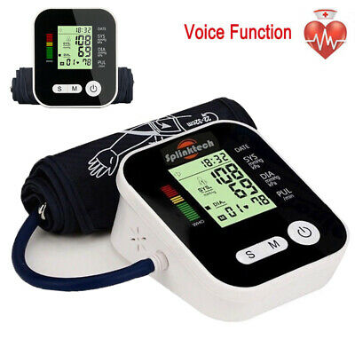 Auto LCD Digital  Upper Arm Blood Pressure Heart Rate Monitor & Voice Function