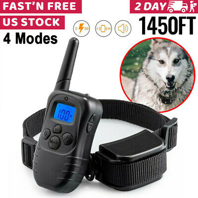 4 Modes LCD Dog Shock Training E Collar With Remote Pet Electric Trainer