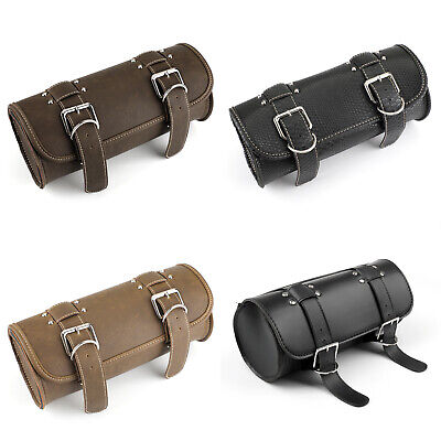 Universal Multi-use PU Leather Motorcycle Tool Roll Kit Saddle Bag