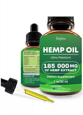 Best Hemp Oil Drops for Pain Relief, Stress, Sleep 185,000 mg FDA APPROVED