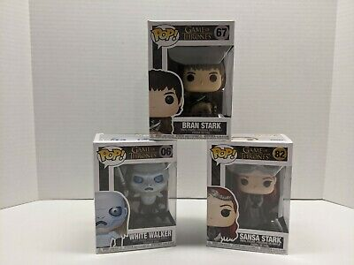 3X GAME OF THRONES Funko Pop Lot #6 WHITE WALKER  #82 SANSA STARK #67 BRAN STARK
