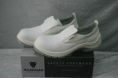Maxguard W310 S2 Slipper White Work Kitchen Shoes with Protector Cap Sz. 40