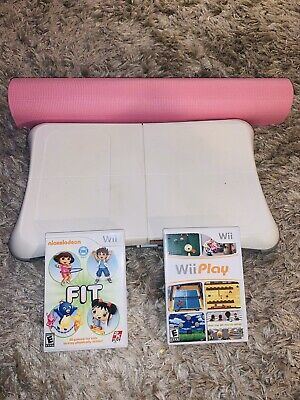 Wii Play Game with Balance Board and Wii Fit Game with Yoga Mat