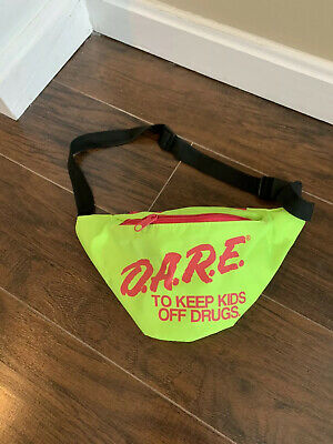 Neon Green Neon Retro DARE Fanny Pack Waist Bags with Adjustable Waist Straps