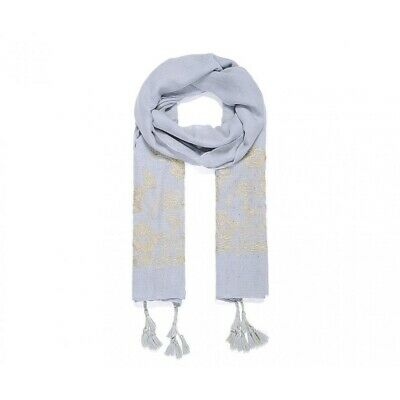 JW488 Intrigue Womens//Ladies Large Floral Embroidered Square Scarf