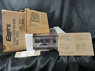 Rare Empire 8 Track Stereo Model B296-42 Vintage Eight-Track Wood Tape Deck