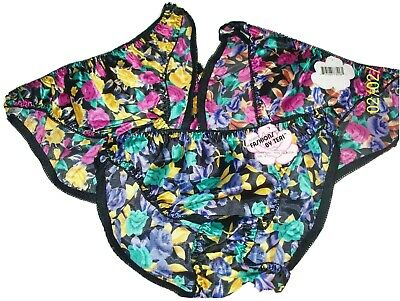 Assorted Teri Floral Second Skin Satin Bikini Panties NWT SZ 6