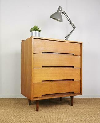 Vintage Mid Century 1950's Stag C Range Chest of Drawers by John & Sylvia Reid