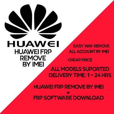 Huawei FRP Unlock Key Code by IMEI/SN Fast Service / Any model support 1 to 12h