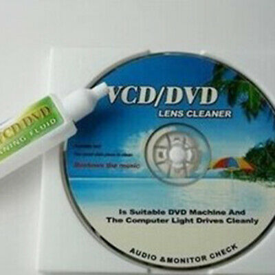 KQ_ DVD VCD Player Laser Head Lens Universal Cleaner Dry&Wet Disc Cleaning Kit L