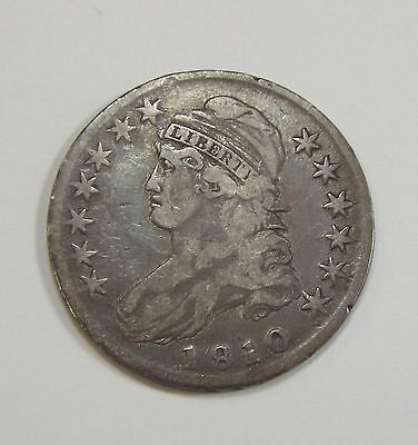 1810 Capped Bust/Lettered Edge Half Dollar VF (VERY FINE) Silver 50-Cents