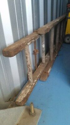 Vintage Wooden Extension Ladder approx 5 Metres per section x 2