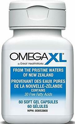 Omega XL 60 ct EPA/DHA Small, Potent, Joint Pain Relief - Omega-3 Essential