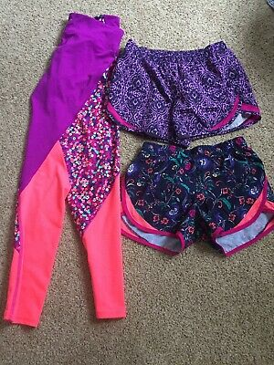 Lot Of 3 Old Navy Girl's Active wear Leggings And Shorts 10-12/12-14