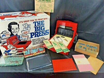 Vtg & Large 1964 The Big Press Printing Set by Ideal w/ Box Rare Old Toy Antique