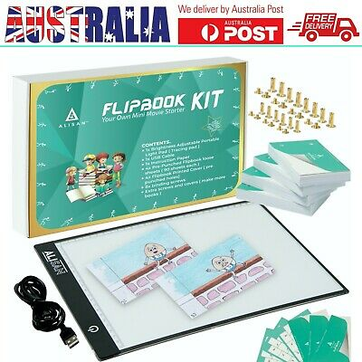 Animation Flipbook Flip Book Kit with Light Pad by ALISAN, 360 Sheets 4.5x3 Inch