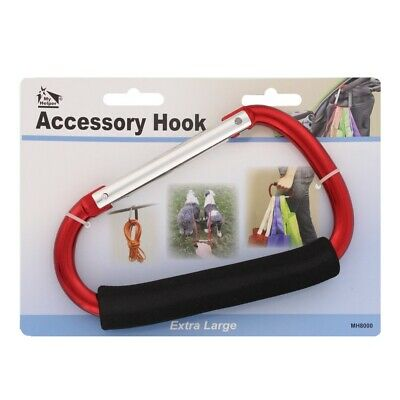 My Helper Extra Large Stroller Hook Clip Baby Carriage Mommy Hook Bag Carry, Red