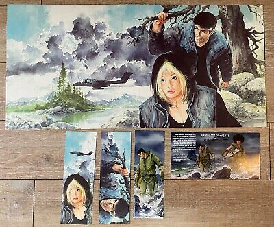 """LITHO VANCE """" XIII JAQUETTE COLLECTOR + 3 MARQUE PAGE """" Dim 30*60 CM TBE N/S"""