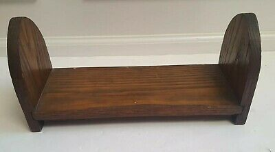 Antique Oak Bookrack Bookstand Wooden Wood Handmade