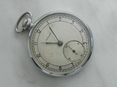 4Q-1953 EARLY OLD MOLNIJA POCKET WATCH 2MChZ SOVIET RUSSIAN USSR TWO TONE DIAL