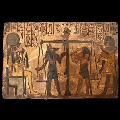 Large Ancient Egyptian Hieroglythic Plaque  Late Period 664 - 332 Bc