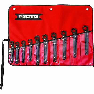 Proto 10-Pc. Set of Metric Ratcheting Flare Nut Wrenches - Model# J3800M