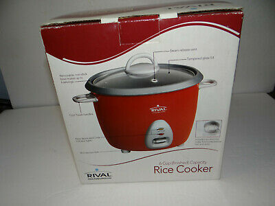 Rival RC61 Rice Cooker 6 Cup Capacity Non-Stick Bowl