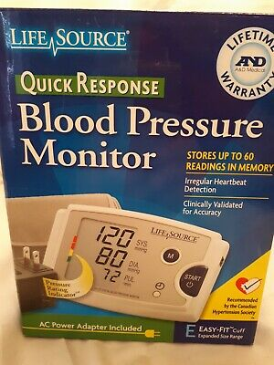 LifeSource UA-787 Quick Response Blood Pressure Monitor Easy Fit Cuff