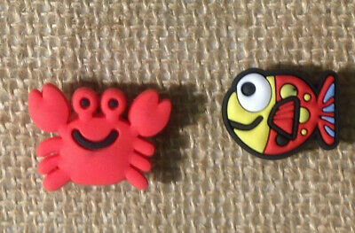 Crab and Fish Clog Shoe Plug Button Charm Accessories for your Crocs