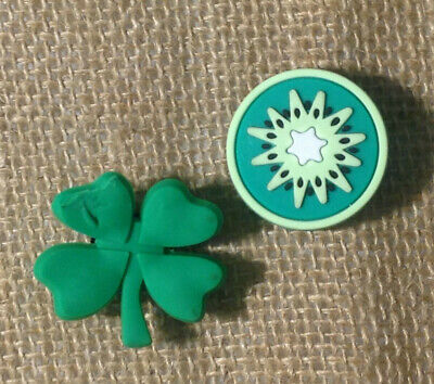Green Clover & Retro Circle Jibbit For Crocs Shoes Charms
