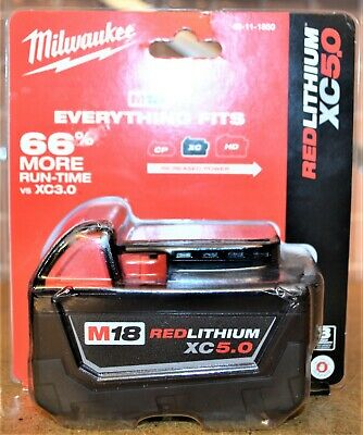 Milwaukee 48-11-1850 M18 Red Lithium XC5.0 Battery - NEW SEALED