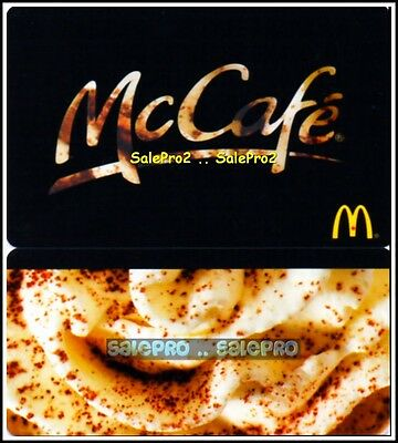 McDONALD 2013 ARABICA COFFEE BEANS CAFE RARE LIMITED COLLECTIBLE GIFT CARD