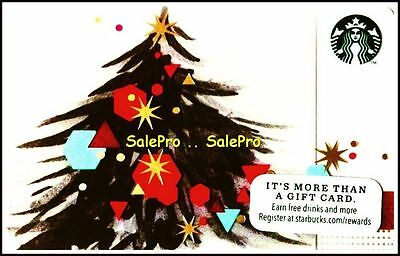 Starbucks Coffee 2014 Christmas Tree In America Rare Collectible Gift Card