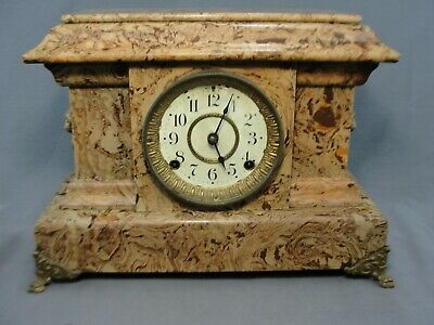 Antique Seth Thomas Adamantine Mantel Clock Circa 1885 Working Condition