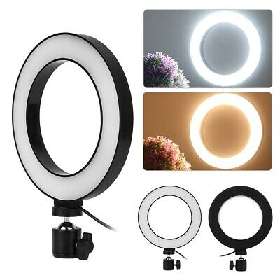 "6"" LED Ring Light Selfie Camera Phone Studio Tripod Stand Photo Video Dimmable"