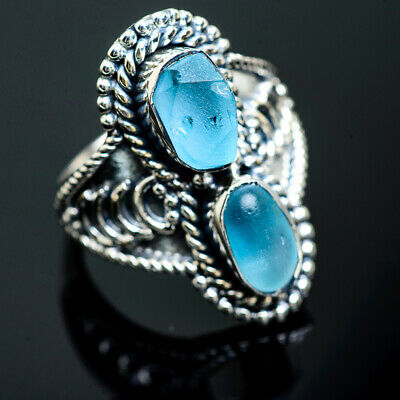 Aquamarine 925 Sterling Silver Ring Size 8.25 Ana Co Jewelry R992103F