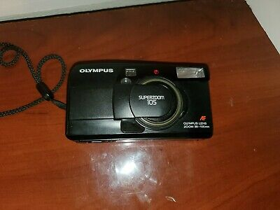 OLYMPUS SUPERZOOM 105 35mm 35-105mm LENS FILM CAMERA. GOOD CONDITION. WORKING!