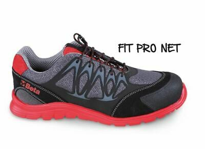 SCARPE BASSE FIT PRO Net (S1P) Red 7340R EUR 84,79