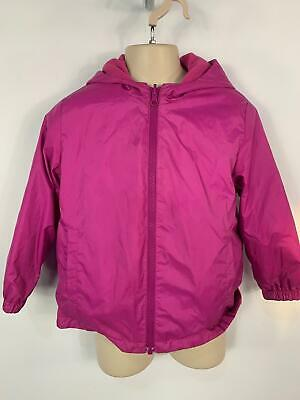 Girls Marks&Spencer Purple Light Weight Rain Hood Coat Jacket Kids Age 5/6 Years