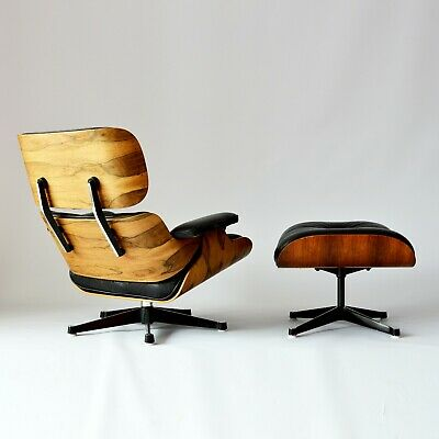 Eames Lounge Chair + Ottoman 1960er Herman Miller by vitra Palisander CITES